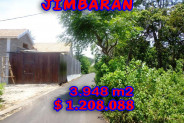 Land for sale in Bali, Exotic view in Jimbaran Bali – 3.948 m2 @ $ 306