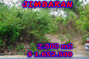 Astounding Property for sale in Bali, Land in Jimbaran for sale– 2.500 m2 @ $ 661
