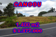 Land for sale in Canggu, Stunning view in Batu Bolong Bali – TJCG123