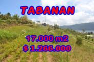 Land for sale in Tabanan Bali, Astounding view in TABANAN BEDUGUL – TJTB082