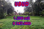 Land for sale in Bali, Fantastic view in Ubud Bali – 1,200 sqm @ $ 206