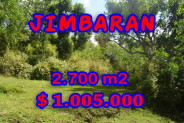 Land for sale in Bali Indonesia, Incredible property in Jimbaran Bali – 2.700 m2 @ $ 372
