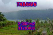 Fabulous Property in Bali, Land for sale in Tabanan Bali – 2.000 m2 @ $ 86