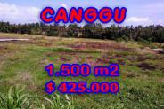 Fabulous Property in Bali, Land for sale in Canggu Bali – 1.500 m2 @ $ 283