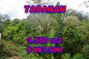 Land for sale in Bali, Incredible property in Tabanan Bali – 3.550 m2 @ $ 39