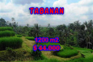 Astonishing Property in Bali, Land for sale in Tabanan Bali – 1.200 m2 @ $ 39