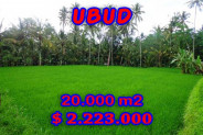 Astonishing Property in Bali, Land for sale in Ubud Bali – 20,000 m2 @ $ 111