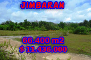 Land in Bali for sale, Great view in Jimbaran Bali – 66.400 m2 @ $ 172