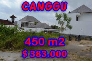Attractive Property for sale in Bali, Canggu land for sale – 450 m2 @ $ 850