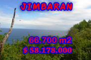 Land for sale in Bali, Incredible view in Jimbaran Bali – 66.700 m2 @ $ 872