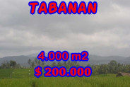 Land in Bali for sale, Great view in Tabanan Bali – 4.000 m2 @ $ 39
