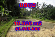 Land for sale in Bali, Incredible view in Ubud Bali – 10.000 m2 @ $ 184