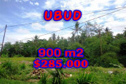 Land for sale in Bali, Interesting view in Ubud Bali – 900 m2 @ $ 317