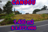 Exotic Property in Bali, land in Canggu Bali for sale – 1,400 m2 @ $ 983