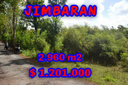 Land for sale in Bali, Magnificent view in Jimbaran Bali – 2.960 m2 @ $ 406