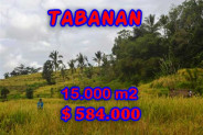 Land for sale in Bali, Incredible view in Tabanan Bali – 15,000 m2 @ $ 39