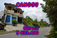 Land for sale in Bali, Outstanding view in Canggu Bali – 800 m2 @ $ 528