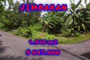 Land for sale in Bali, Outstanding view in Jimbaran Bali – 1.846 m2 @ $ 350