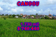 Land in Bali for sale, Stunning Property in Canggu Bali – 1.730 m2 @ $ 428