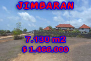 Extraordinary Property in Bali, Land for sale in Jimbaran Bali – 7,130 m2 @ $ 206