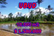 Extraordinary Property in Bali, Land for sale in Ubud Bali – 18,000 m2 @ $ 83