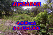 Land for sale in Bali Indonesia, Exceptional view in Jimbaran Bali – 4.000 m2 @ $ 283