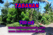 Land in Bali for sale, Stunning Property in Tabanan Bali – 700 m2 @ $ 380