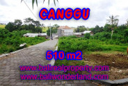 Land for sale in Bali, Outstanding property in Canggu Bali – 510 m2 @ $ 575