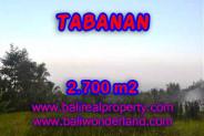 Exotic Property in Bali, Land sale in Tabanan Bali – 2.700 m2 @ $ 37