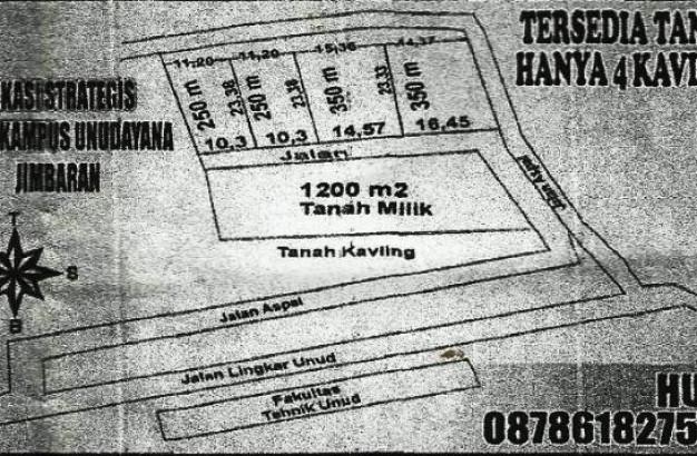 Land plot for sale in Jimbaran Bali, nice price – T1074
