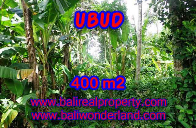 Unbelievable Property for sale in Bali, land for sale in Ubud Bali – 400 m2 @ $ 645