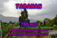 Land for sale in Bali, Fantastic view in Tabanan Bali – 780 m2 @ $ 125
