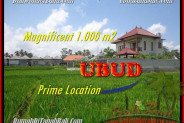 Beautiful PROPERTY 1.000 m2 LAND SALE IN UBUD BALI TJUB445