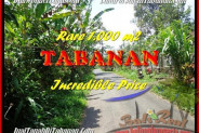 Beautiful 1.000 m2 LAND FOR SALE IN TABANAN BALI TJTB171
