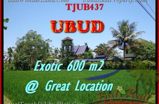 600 m2 LAND IN UBUD FOR SALE TJUB437