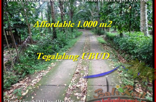 FOR SALE Affordable PROPERTY 1,000 m2 LAND IN UBUD TJUB467