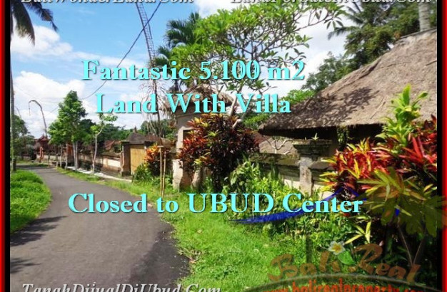 Magnificent UBUD 5,100 m2 LAND FOR SALE TJUB468