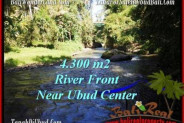 FOR SALE Magnificent PROPERTY 4,315 m2 LAND IN UBUD BALI TJUB499