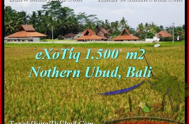 Beautiful 1,500 m2 LAND FOR SALE IN Sentral Ubud TJUB488
