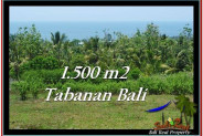 FOR SALE Exotic PROPERTY 1,500 m2 LAND IN TABANAN BALI TJTB234