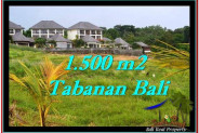Exotic 1,500 m2 LAND FOR SALE IN TABANAN BALI TJTB252