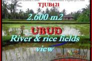Magnificent 2,600 m2 LAND SALE IN UBUD BALI TJUB421