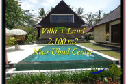 FOR SALE Exotic 2,190 m2 LAND IN UBUD BALI TJUB530