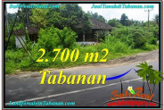 Beautiful PROPERTY 2,700 m2 LAND FOR SALE IN Tabanan Kerambitan TJTB299