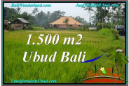 Exotic PROPERTY 1,500 m2 LAND FOR SALE IN Ubud Tampak Siring TJUB558