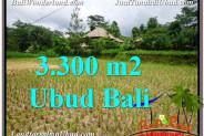 Affordable PROPERTY 3,300 m2 LAND SALE IN UBUD BALI TJUB562