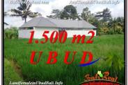 Exotic 1,500 m2 LAND IN UBUD BALI FOR SALE TJUB600