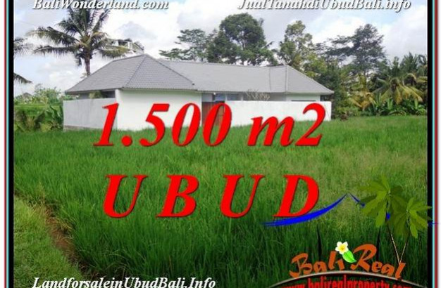 Exotic 1,500 m2 LAND IN UBUD BALI FOR SALE TJUB600