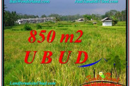 Affordable UBUD BALI 850 m2 LAND FOR SALE TJUB583