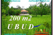 FOR SALE Affordable 200 m2 LAND IN UBUD TJUB584